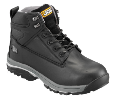 JCB Black Waterproof Boot with Steel Midsole F/TRACK/B